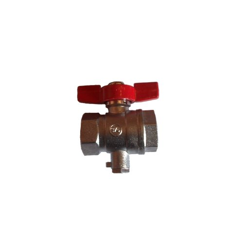 Ball valve 3/4 (25 mm)+ direct-measuring sensor-connector piece